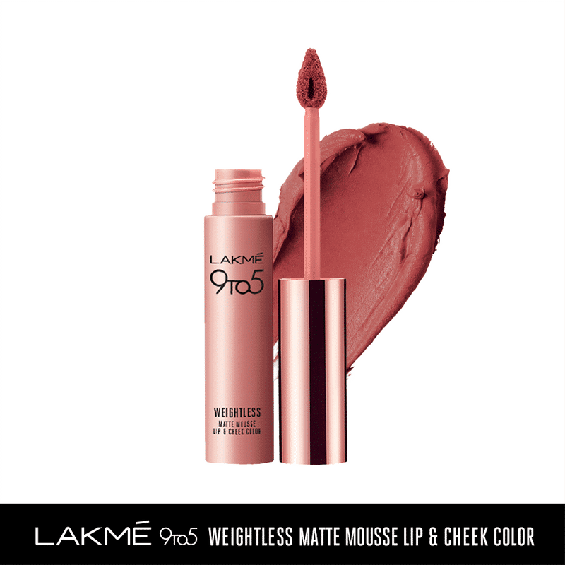 Lakme 9 to 5 Weightless Matte Mousse Lip & Cheek Color - Nude Cushion