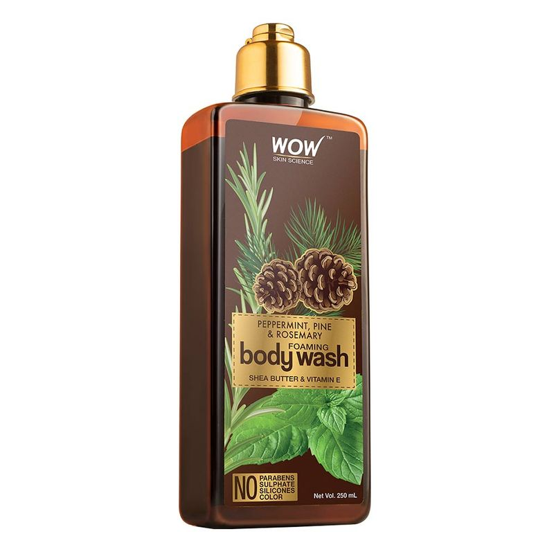 WOW Skin Science Peppermint, Pine & Rosemary Foaming Body Wash