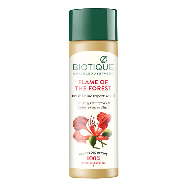 Biotique Bio Flame Of The Forest Fresh Shine Expertise Oil For Damaged & Color Treated Hair