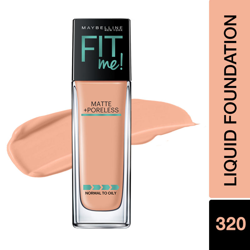 Maybelline New York Fit Me Matte+Poreless Liquid Foundation With Pump - 320 Natural Tan
