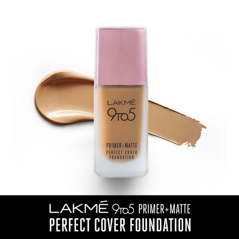Lakme 9 To 5 Primer + Matte Perfect Cover Foundation - W320 Warm Caramel