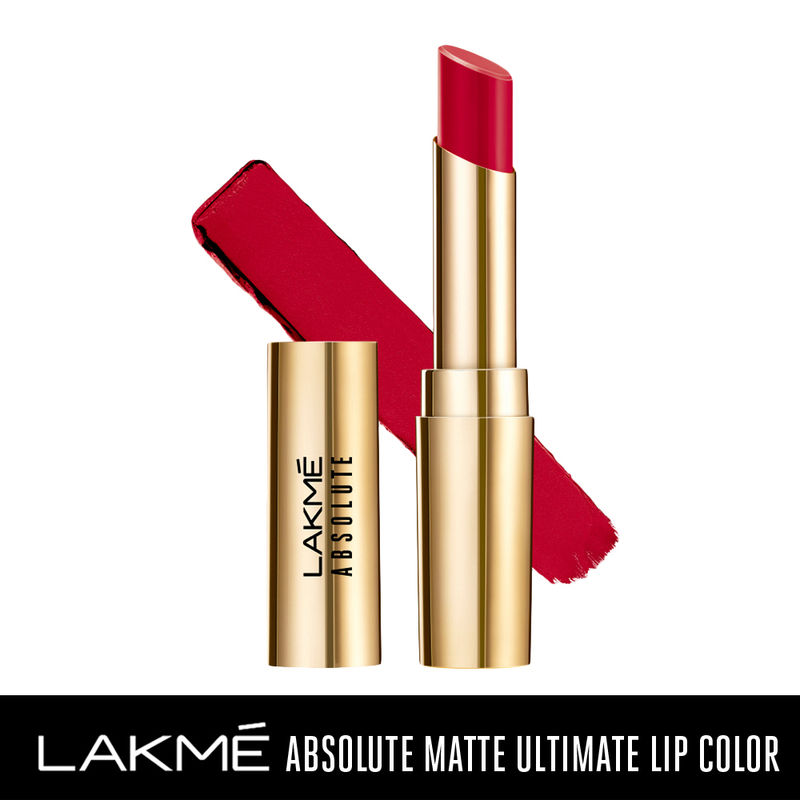 Lakme Absolute Matte Ultimate Lip Color with Argan Oil - Red Extreme