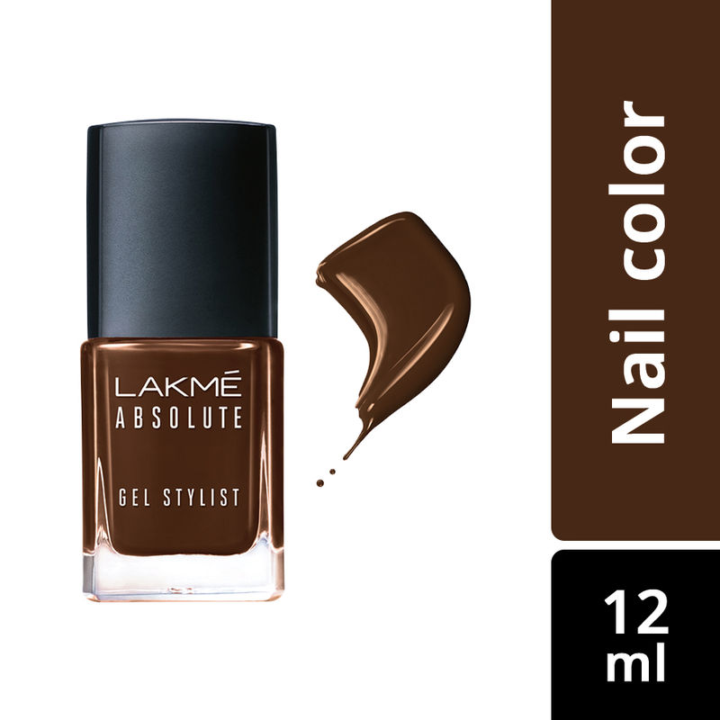 Lakme Absolute Gel Stylist Nail Color - Deep Taupe