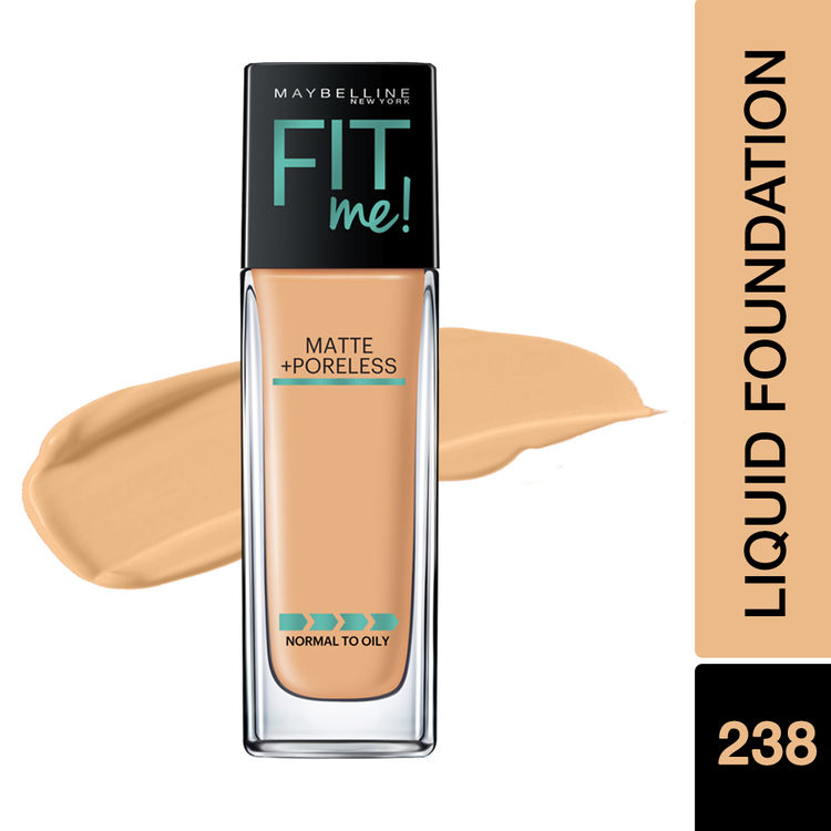 Maybelline New York Fit Me Matte+Poreless Liquid Foundation With Pump - 238 Rich Tan