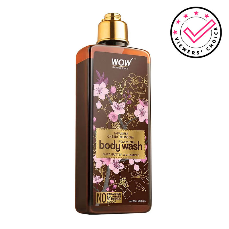 WOW Skin Science Japanese Cherry Blossom Foaming Body Wash
