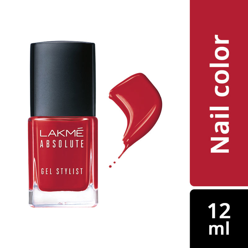 Lakme Absolute Gel Stylist Nail Color - Scarlet Red