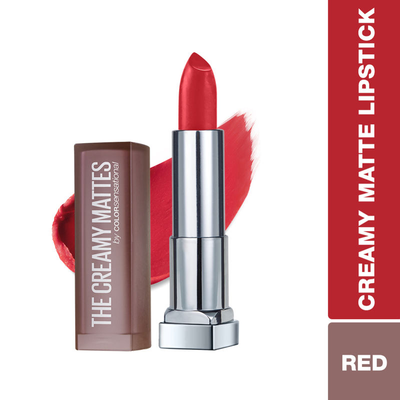 Maybelline New York Color Sensational Creamy Matte Lipstick - 647 Dare To Be Red