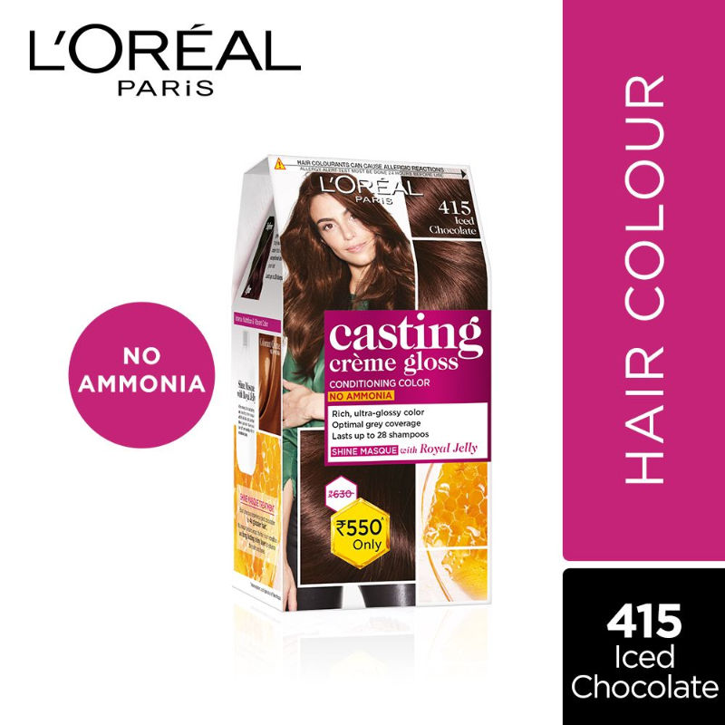 L'Oreal Paris Casting Creme Gloss Hair Color - 415 Iced Chocolate