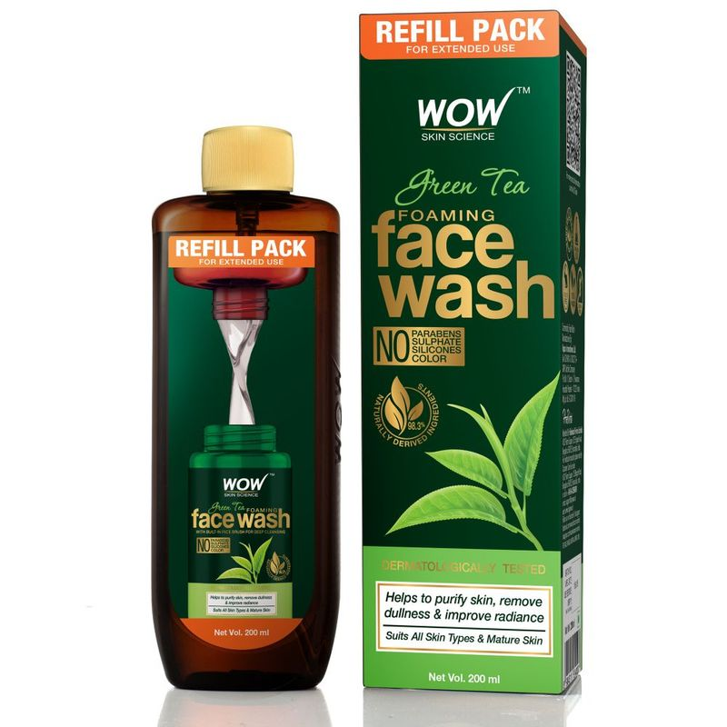 WOW Skin Science Green Tea Foaming Face Wash Refill Pack