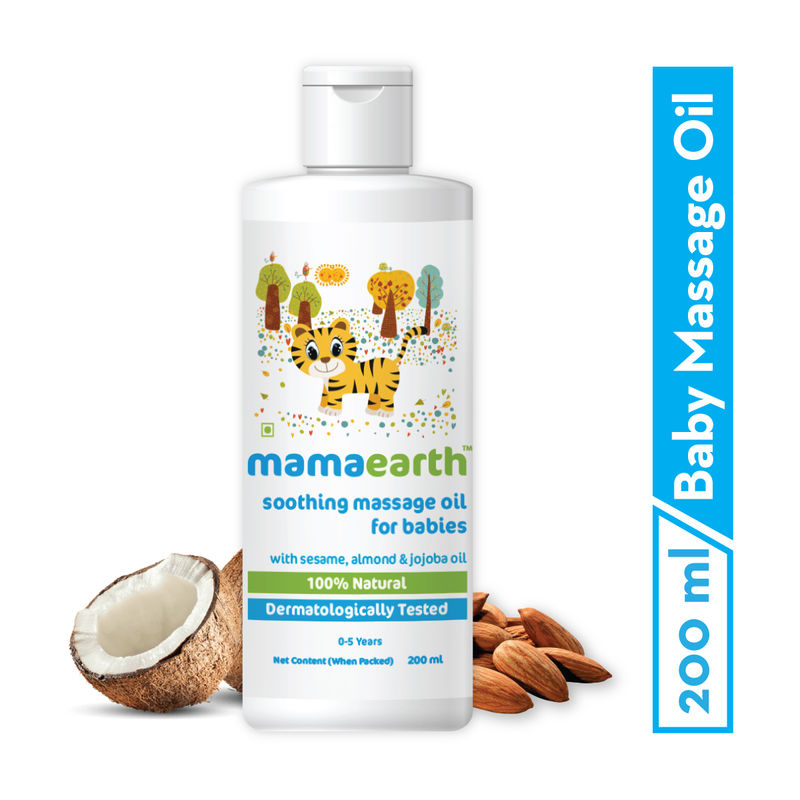 Mamaearth Soothing Baby Massage Oil With Sesame- Almond & Jojoba Oil