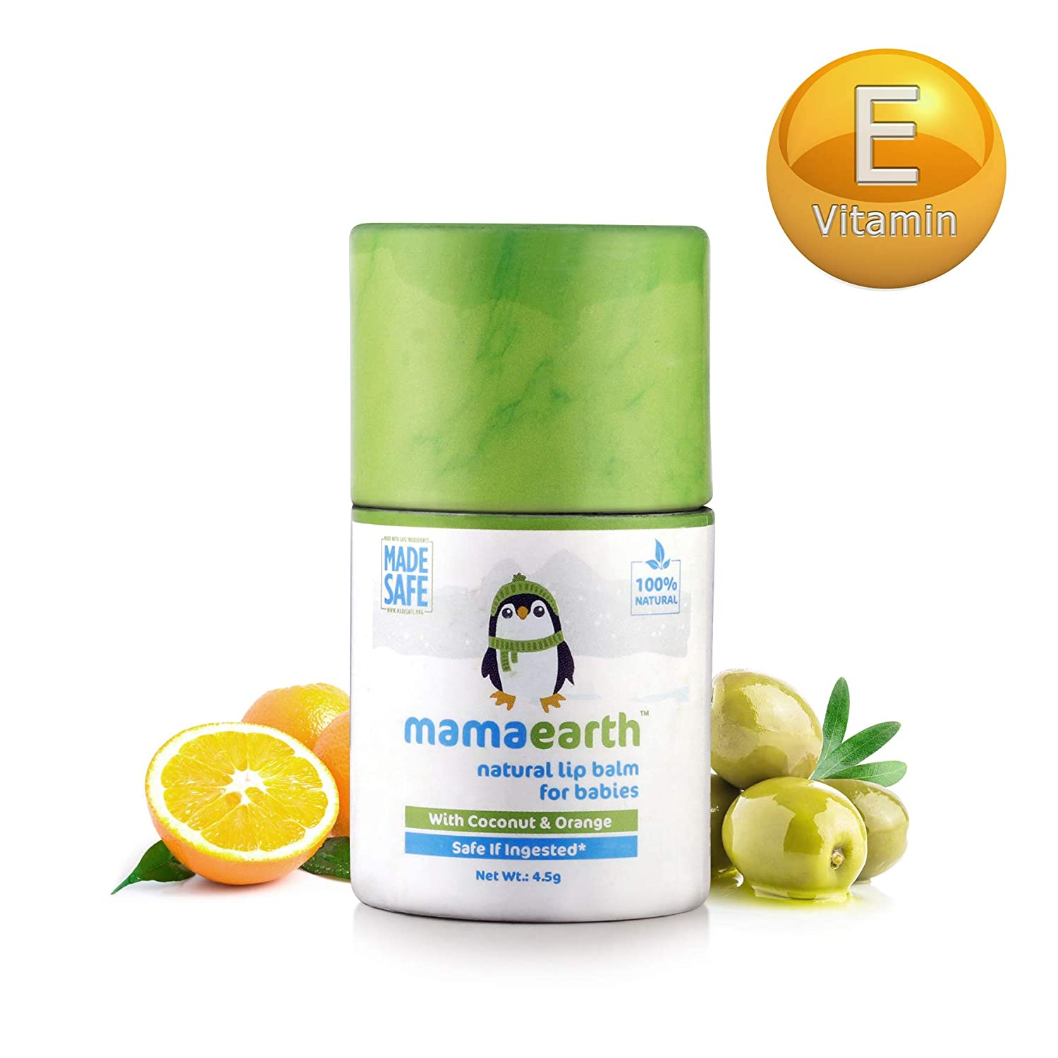 Mamaearth Natural Baby Lip Balm For Babies With Coconut Oil, Cocoa Butter & Orange