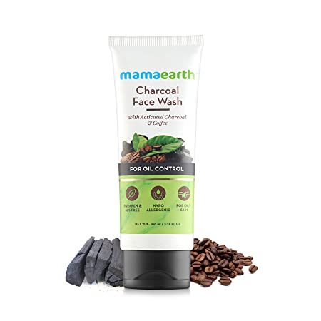 Mamaearth Charcoal Face Wash With Activated Charcoal And Coffee For Oil Control