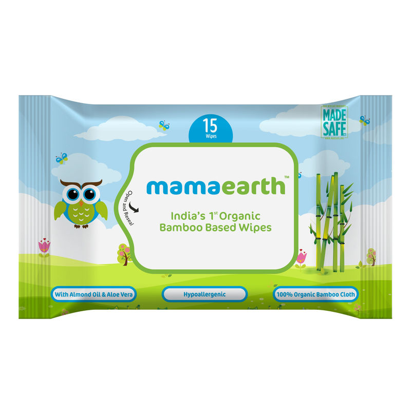 Mamaearth India's First Organic Bamboo Based Baby Wipes -Travel Pack