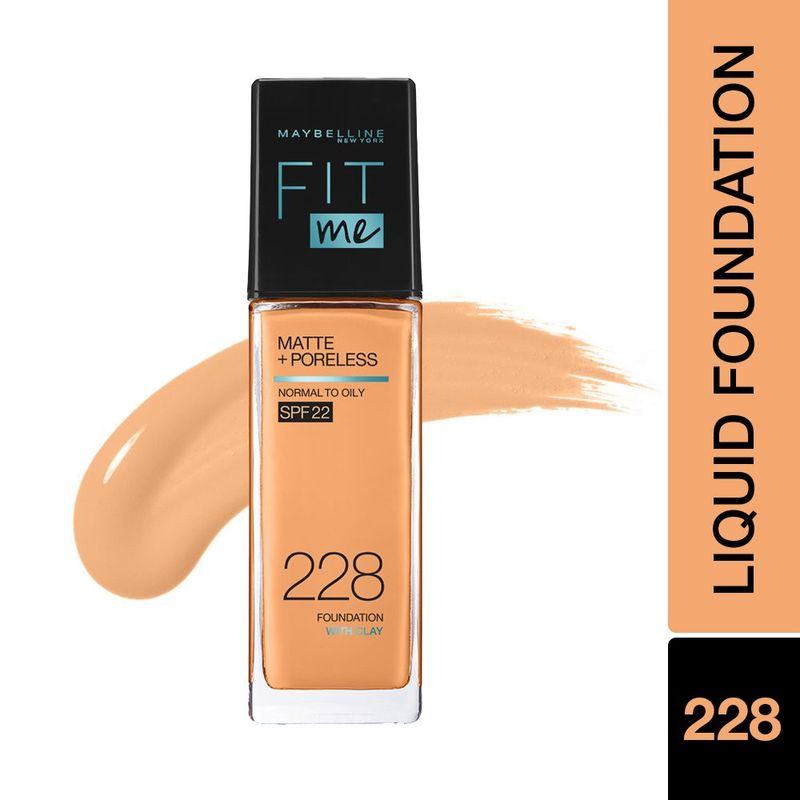 Maybelline New York Fit Me Matte+Poreless Liquid Foundation With Pump - 228 Soft Tan