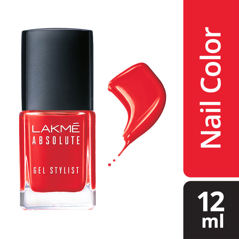 Lakme Absolute Gel Stylist Nail Color - Blazing