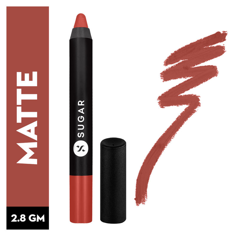 SUGAR Matte As Hell Crayon Lipstick With Free Sharpener - 11 Elle Woods