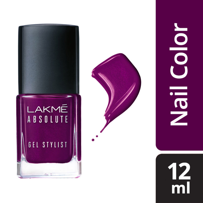Lakme Absolute Gel Stylist Nail Color - Poison