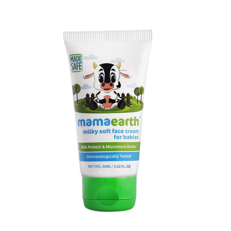 Mamaearth Milky Soft Face Cream for Babies with Milk Protein Murumuru Butter