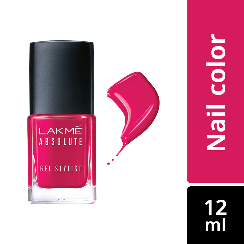 Lakme Absolute Gel Stylist Nail Color - Pink Drama