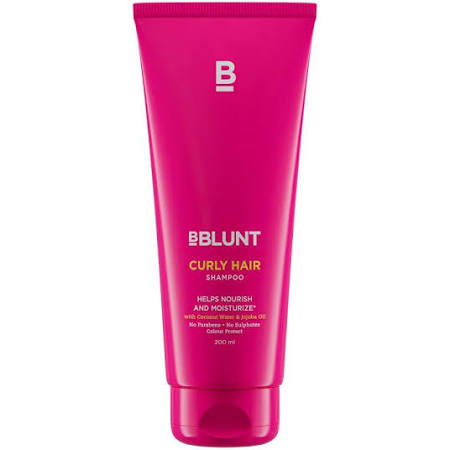 BBLUNT Curly Hair Shampoo With coconut water & jojoba Oil