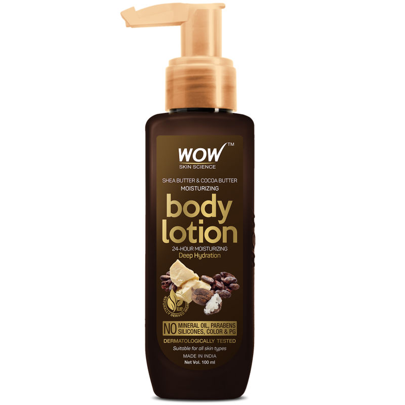 Wow Skin Science Shea Butter And Cocoa Butter Moisturizing Body Lotion