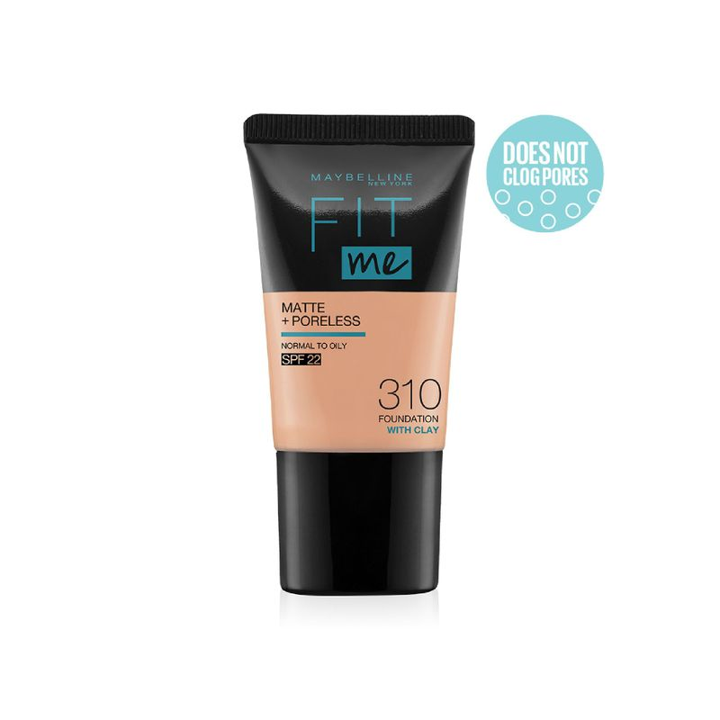 Maybelline New York Fit Me Matte+Poreless Foundation Tube - 310 With Clay