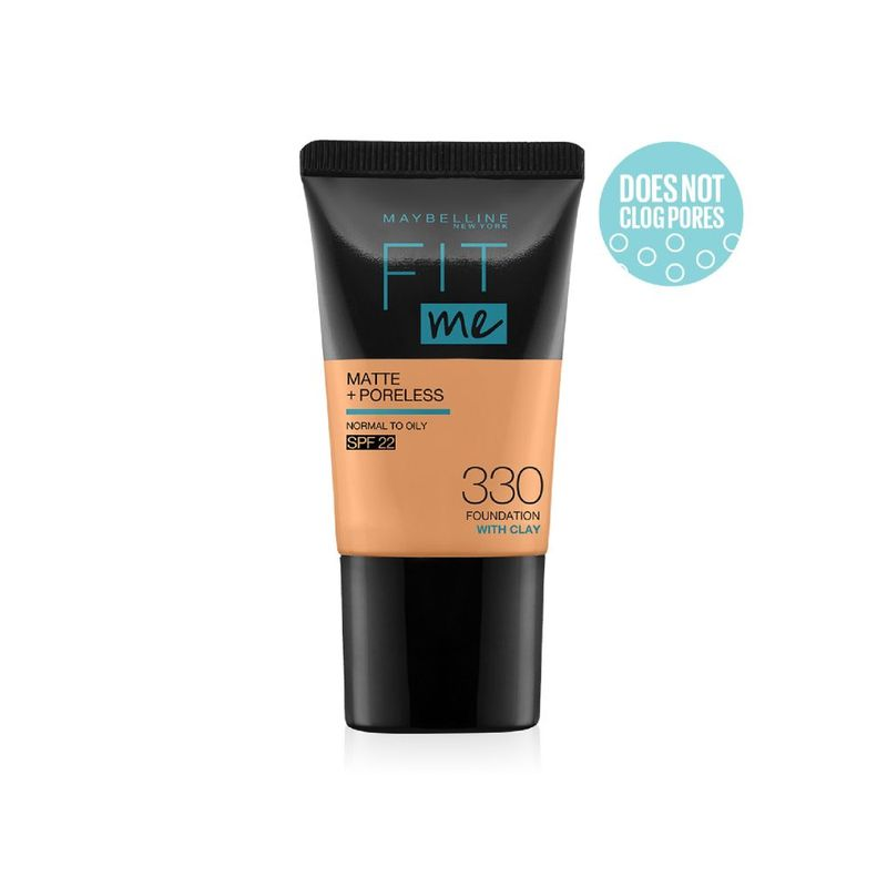 Maybelline New York Fit Me Matte+Poreless Liquid Foundation Tube - 330 Toffee