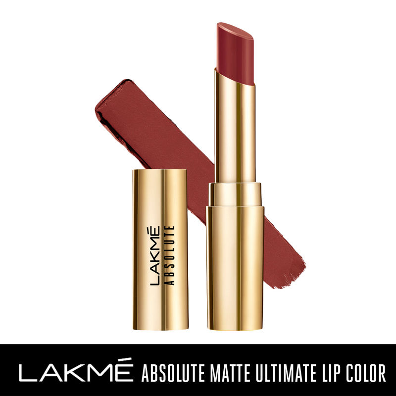 Lakme Absolute Matte Ultimate Lip Color with Argan Oil - Chocolate Brownie