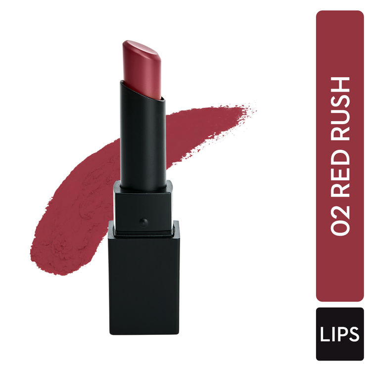 SUGAR Nothing Else Matter Longwear Lipstick - 02 Red Rush (Red With Hints Of Pink, Orange)