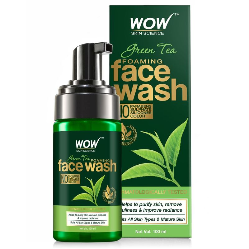 WOW Skin Science Green Tea Foaming Face Wash with Pump
