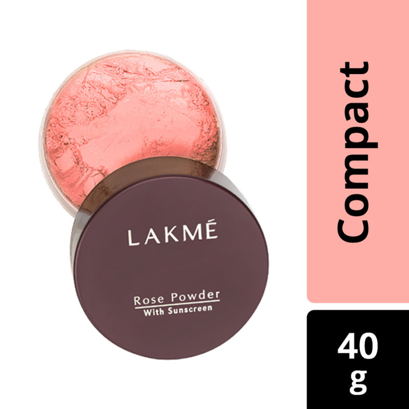 Lakme Rose Face Powder With Sunscreen - Warm Pink