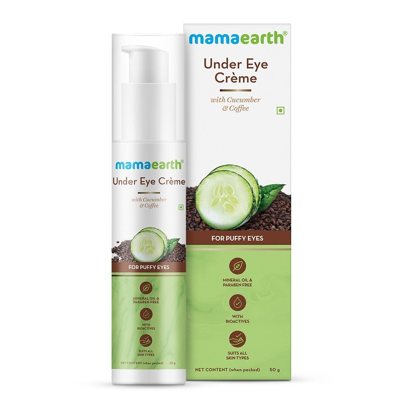 Mamaearth Under Eye Creme With Cucumber & Coffee For Puffy Eyes