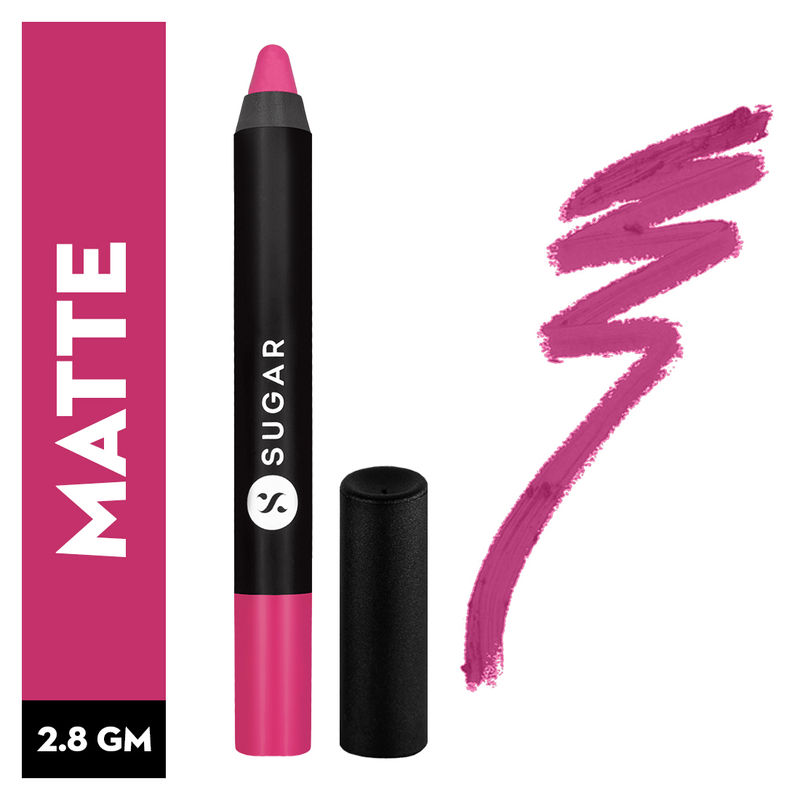 SUGAR Matte As Hell Crayon Lipstick With Free Sharpener - 02 Mary Poppins