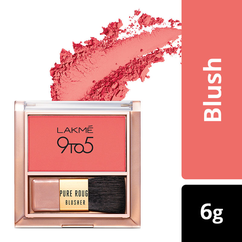 Lakme 9 To 5 Pure Rouge Blusher - Coral Punch