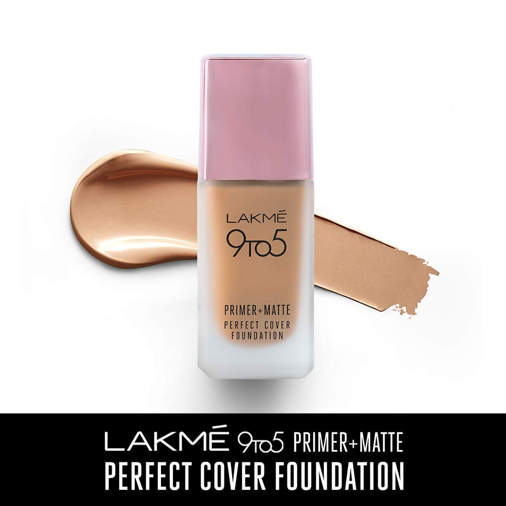 Lakme 9 To 5 Primer + Matte Perfect Cover Foundation - N260 Neutral Honey