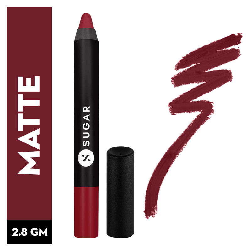SUGAR Matte As Hell Crayon Lipstick With Free Sharpener - 03 Poison Ivy