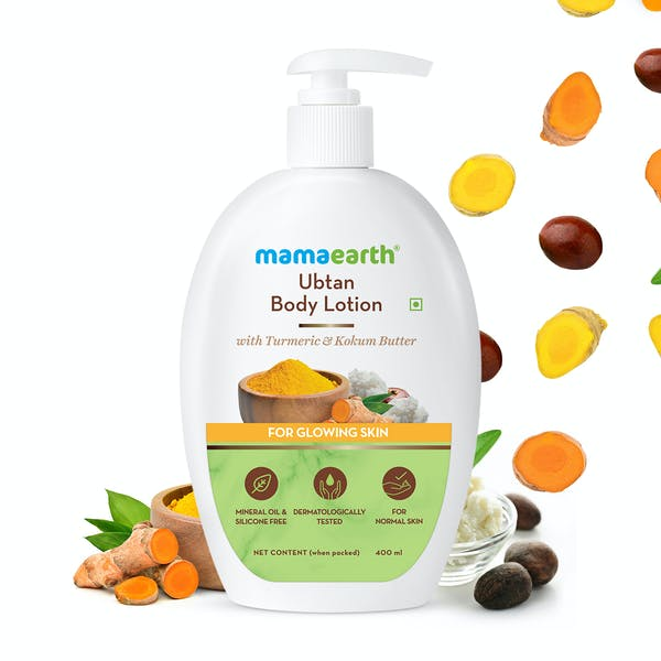 Mamaearth Ubtan Body Lotion with Turmeric & Kokum Butter for Glowing Skin