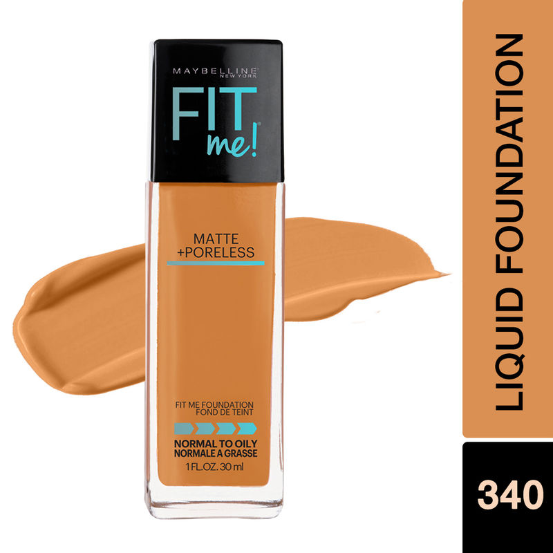 Maybelline New York Fit Me Matte+Poreless Liquid Foundation With Pump - 340 Cappuccino