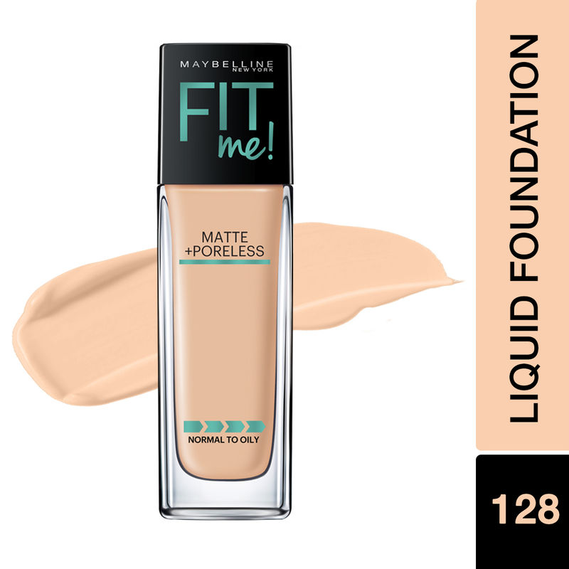 Maybelline New York Fit Me Matte+Poreless Liquid Foundation With Clay - 128 Warm Nude