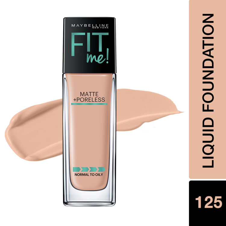 Maybelline New York Fit Me Matte+Poreless Liquid Foundation With Clay - 125 Nude Beige
