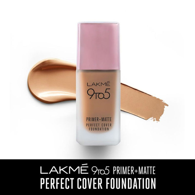 Lakme 9 To 5 Primer + Matte Perfect Cover Foundation - C100 Cool Ivory