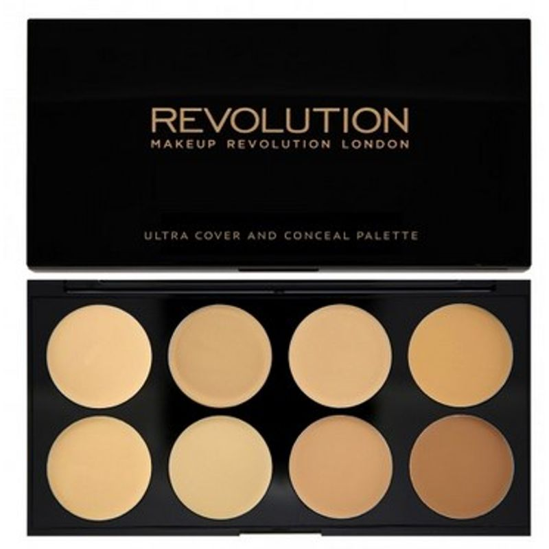 Makeup Revolution Ultra Cover and Conceal Palette - Light - Medium