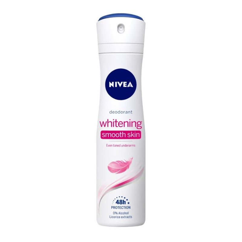 NIVEA Women Deodorant, Whitening Smooth Skin, for 48h Protection