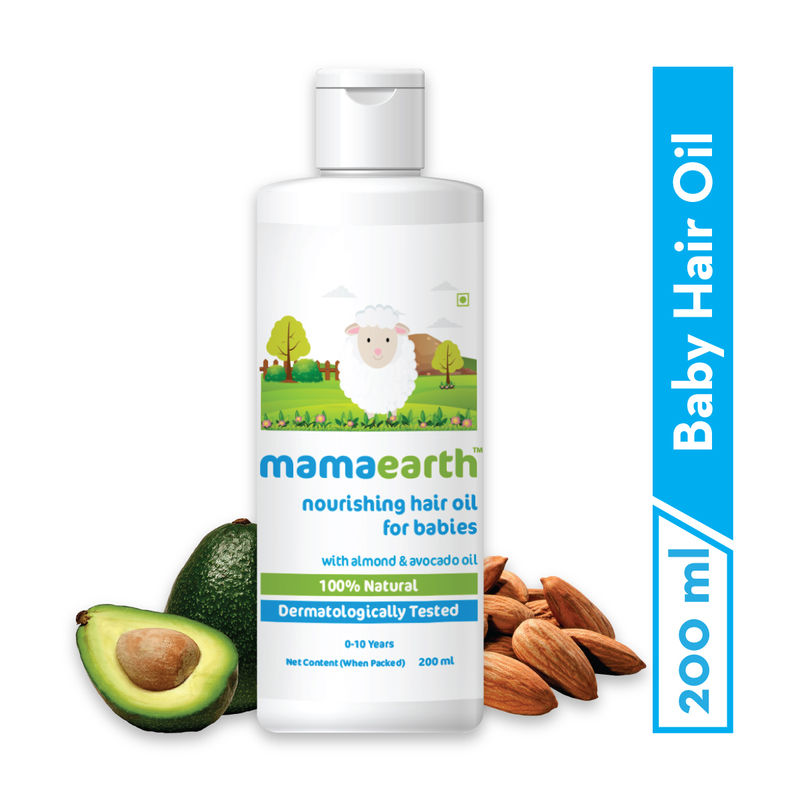Mamaearth Nourishing Baby Hair Oil With Almond & Avocado Oil