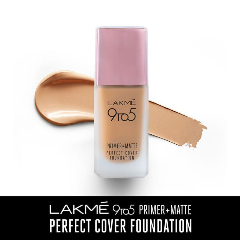 Lakme 9 To 5 Primer + Matte Perfect Cover Foundation - W180 Warm Natural