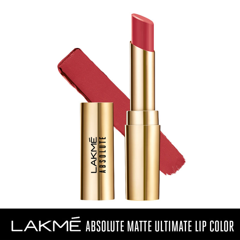 Lakme Absolute Matte Ultimate Lip Color with Argan Oil - Royal Rust