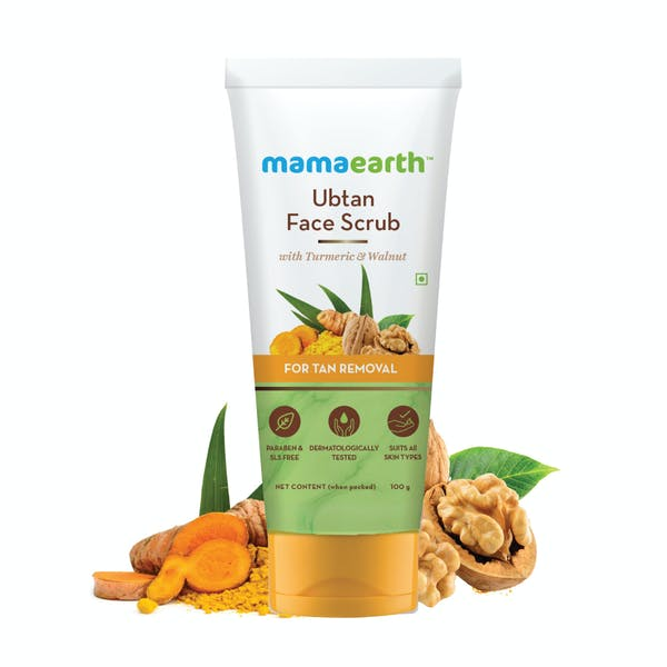 Mamaearth Ubtan Scrub For Face With Turmeric & Walnut For Tan Removal