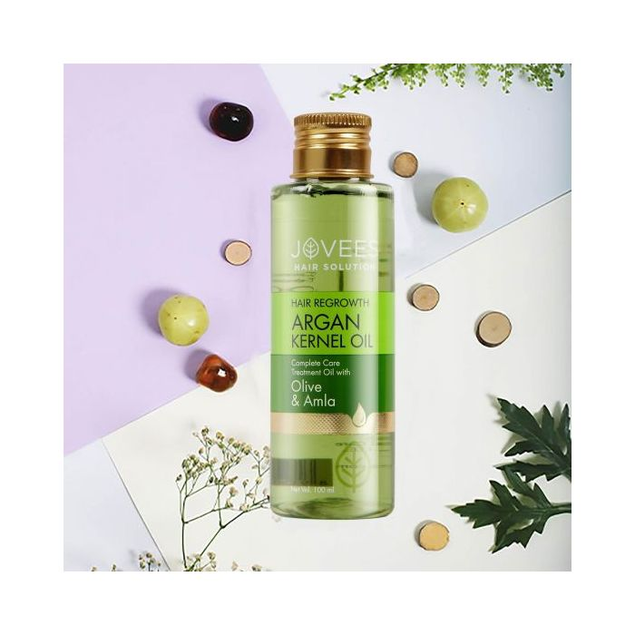 Jovees Argan Kernel Hair Regrowth Complete Care Treatment Oil with Olive & Amla