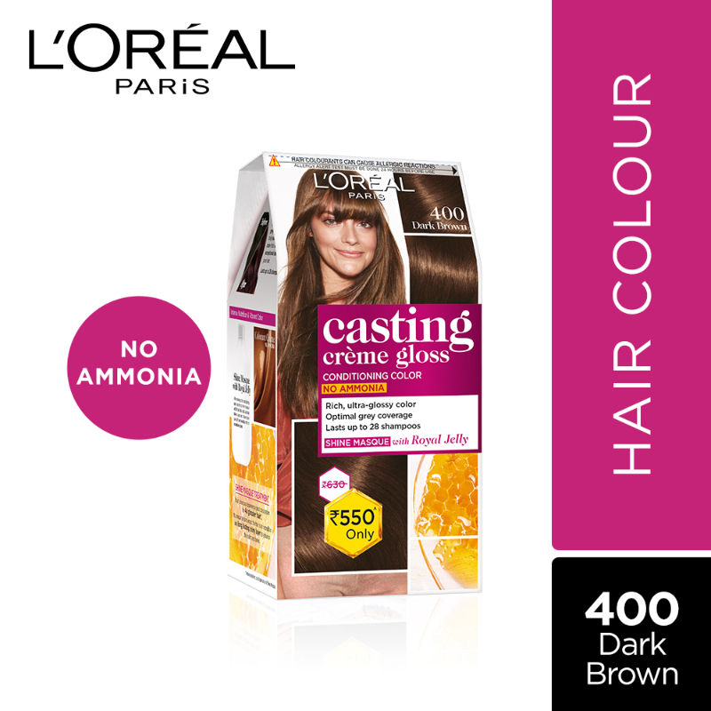 L'Oreal Paris Casting Creme Gloss Conditioning Hair Color - 400 Dark Brown