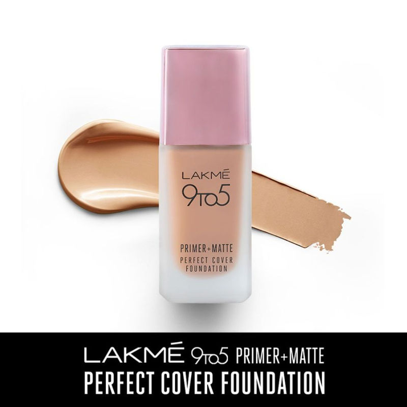 Lakme 9 To 5 Primer + Matte Perfect Cover Foundation - W240 Warm Beige